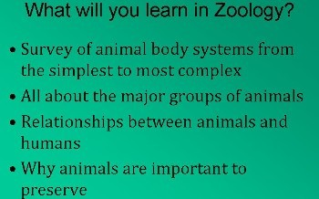 Anatomy and Physiology and Zoology